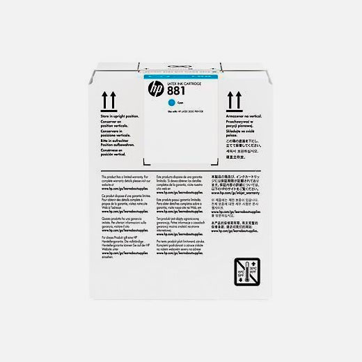 CR331A - Cartuccia HP 881 Ciano 5 lt