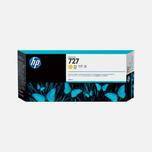 F9J78A - Cartuccia HP 727 Giallo 300 ml